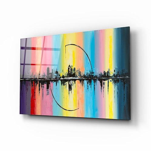 City Skyline Glass Printing
