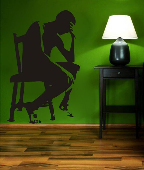 Thinking Man  Wall Sticker