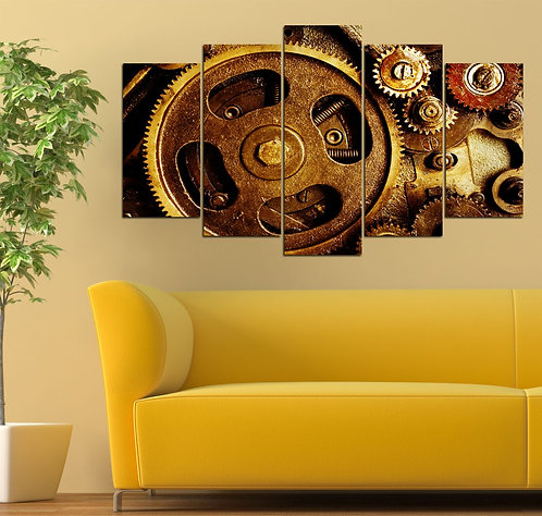 Wheel 5 Pieces MDF Painting
