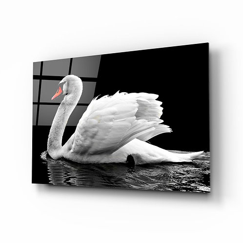 Swan UV Printed Glass Painting