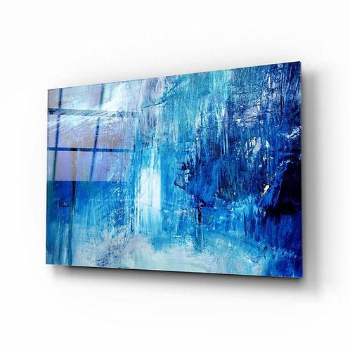 Abstract UV Printed Glass Printing
