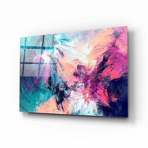 Abstract UV Printed Glass Painting