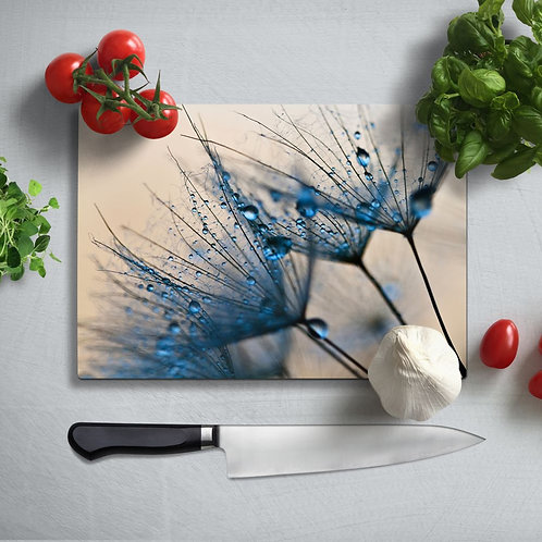 Leaves Uv Printed Glass Chopping Board 35x25cm