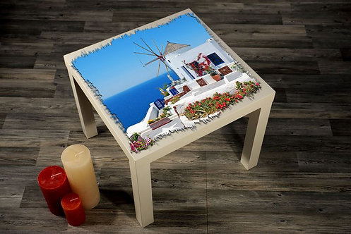 Greek Houses Printed Coffee Tables