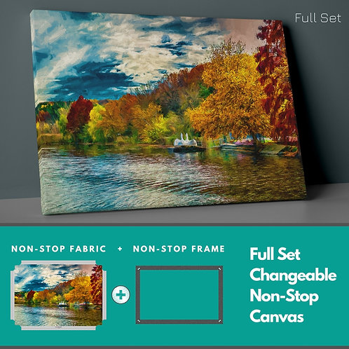 Swans �n The Lake Non-Stop Canvas Printings