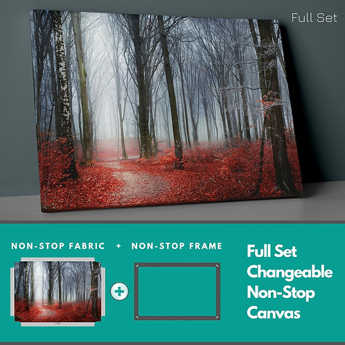 Red Leaves Non-Stop Canvas Printings