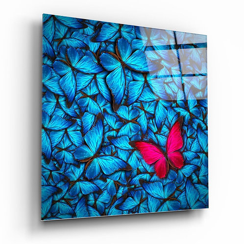 Butterfly UV Printed Glass Painting