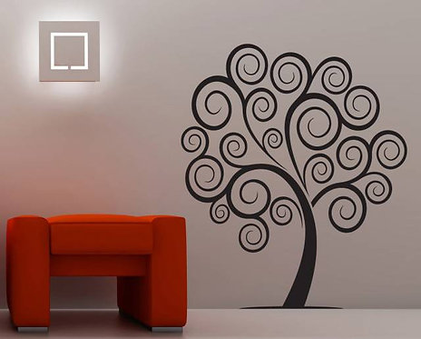 Swirl Tree Wall Sticker