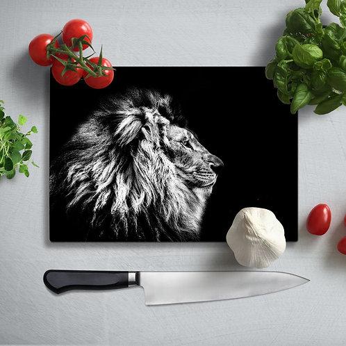 Lion Uv Printed Glass Chopping Board 35x25cm