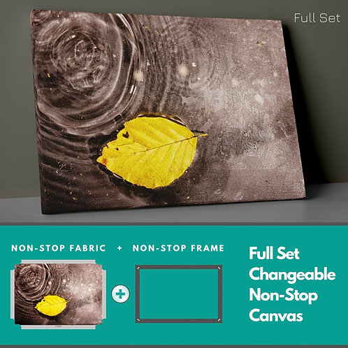 Leaf �n Water Non-Stop Canvas Printings