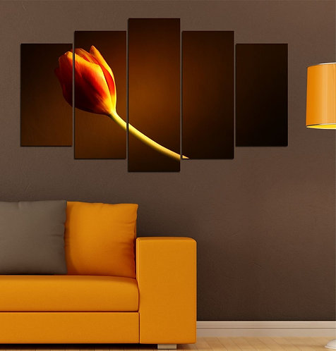 Tulip 5 Pieces MDF Painting