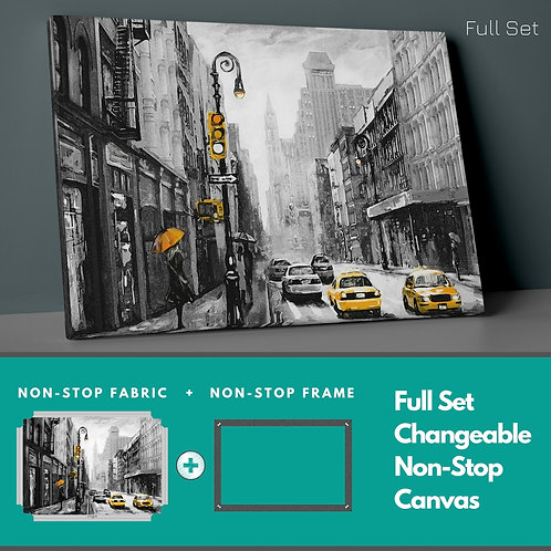 Yellow Taxis Non-Stop Canvas Printings
