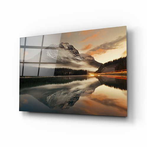 Lake and Mountain View Glass Printing