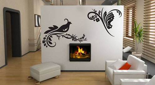 Pigeon And Butterfly Wall Sticker