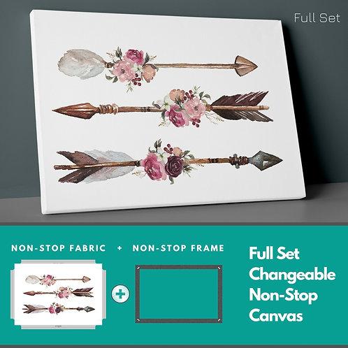 Boho Floral Arrows Non-Stop Canvas Printings