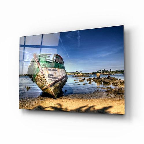 Shipwreck UV Printed Glass Printing