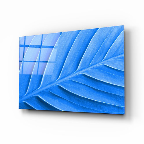 Blue Leaf Glass Printing