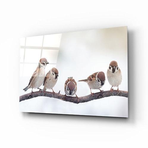 Birds UV Printed Glass Painting