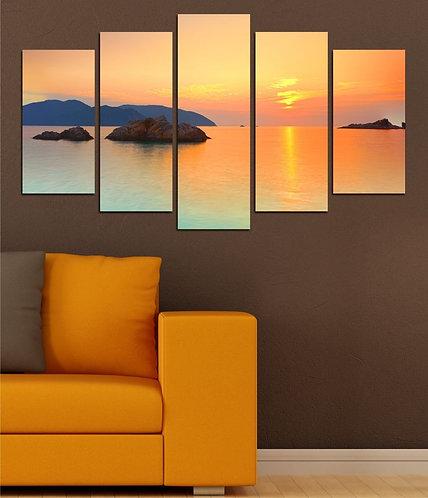 Archipelago landscape (2) 5 Pieces MDF Painting