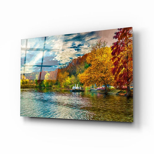 Lake UV Printed Glass Painting