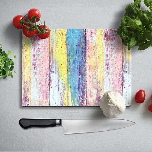 Colorful Boards Uv Printed Glass Chopping Board 35x25cm