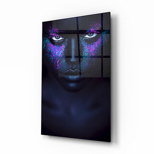 Woman Portrait UV Printed Glass Printing