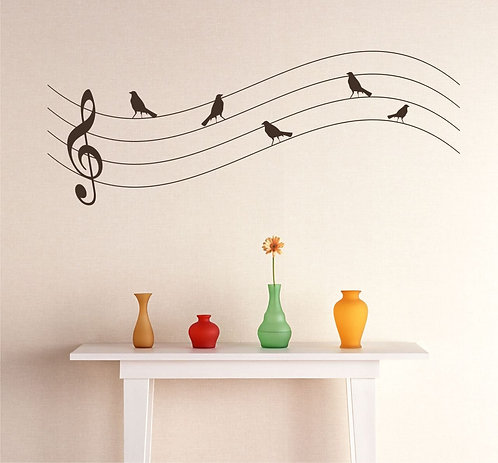 Birds And Music Wall Sticker