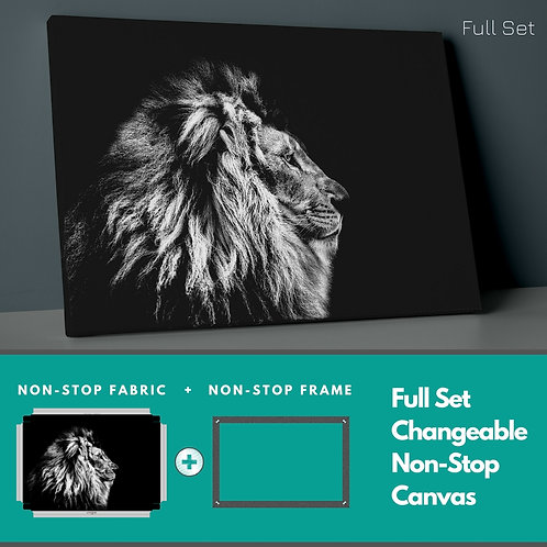 Lion �n The Darkness Non-Stop Canvas Printings