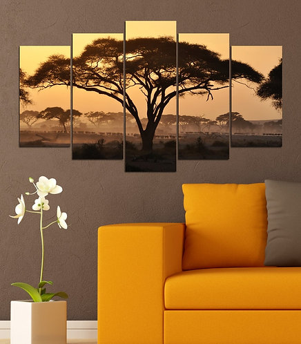 Africa 5 Pieces MDF Painting