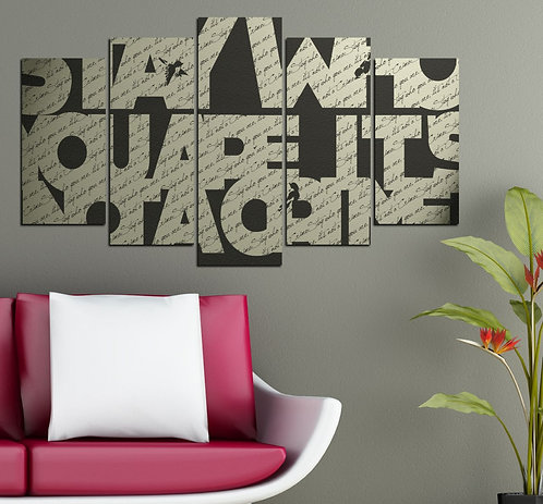 quote 5 Pieces MDF Painting