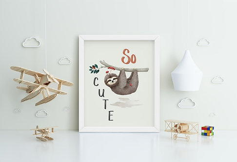 So Cute Framed Printing