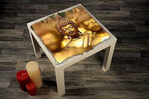 Buddha Statue Printed Coffee Tables