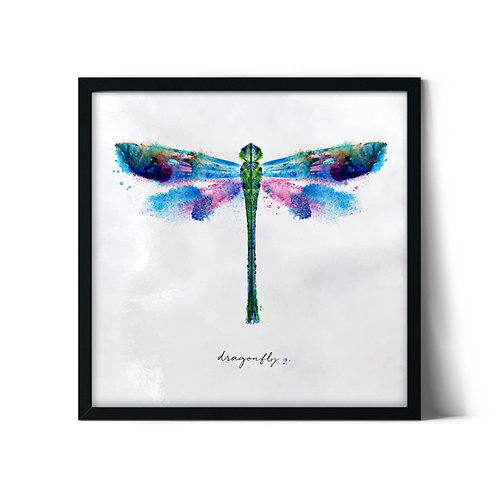 Dragonfly Framed Painting