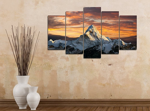 Mountain 5 Pieces MDF Painting