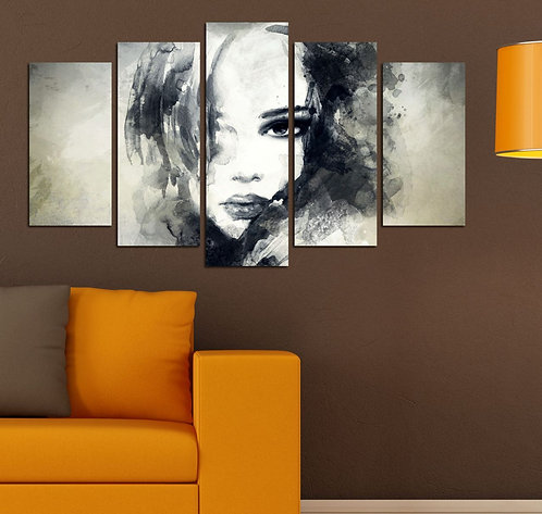 Abstract (28) 5 Pieces MDF Painting
