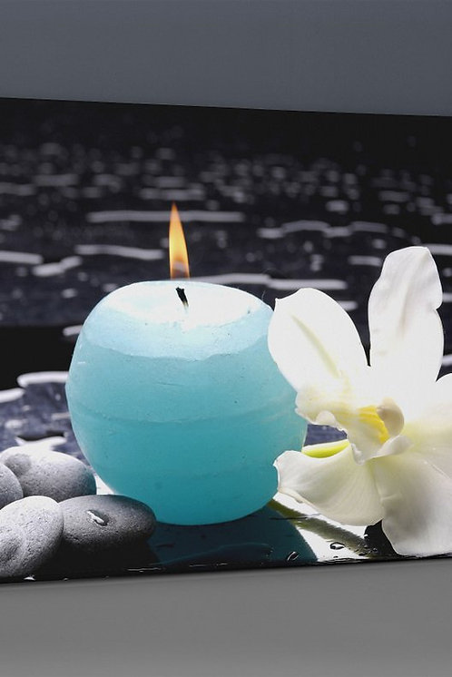 Blue Candle Canvas Printings