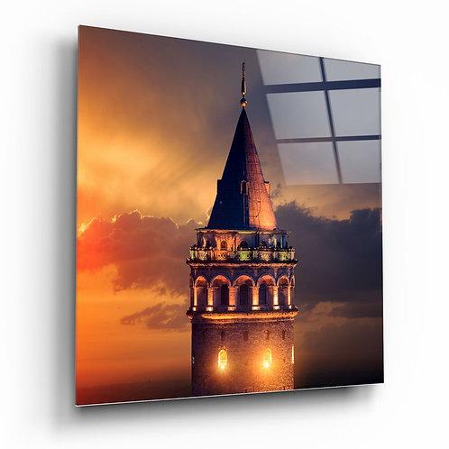 Galata Tower UV Printed Glass Printing