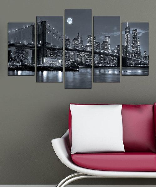 Brooklyn Bridge (10) 5 Pieces MDF Painting