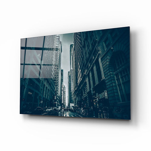 Newyork City Glass Painting