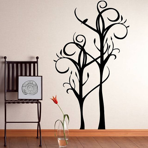 Curved Tree Wall Sticker