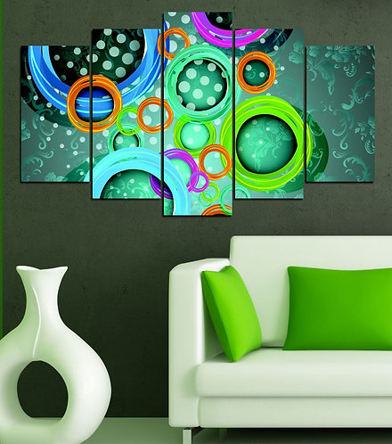 Abstract (9) 5 Pieces MDF Painting