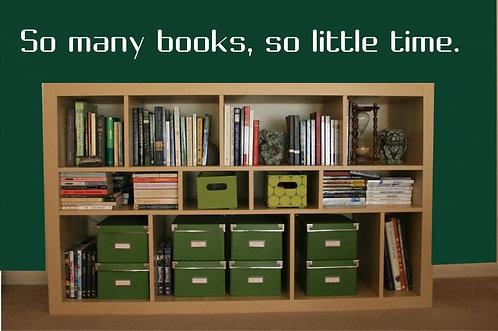 So Many Books Wall Sticker