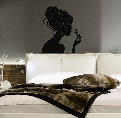 Rose And Woman Wall Sticker