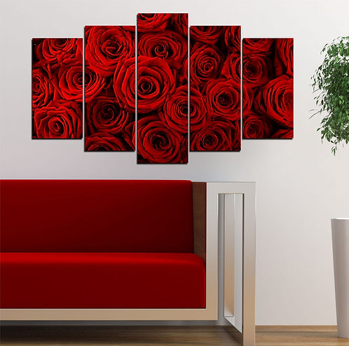 roses 5 Pieces MDF Painting