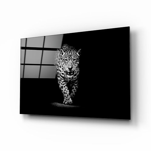 Leopard UV Printed Glass Painting