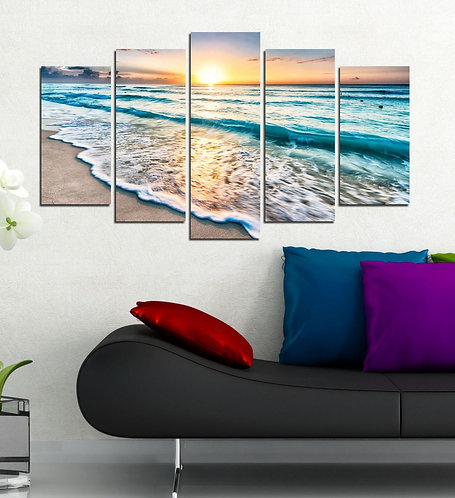 Sea View (4) 5 Pieces MDF Painting