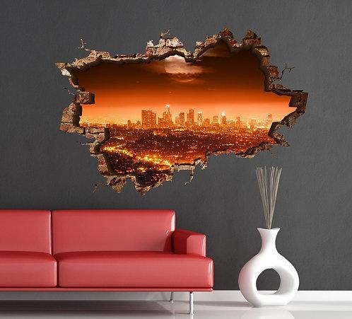 City 3D Wall Sticker