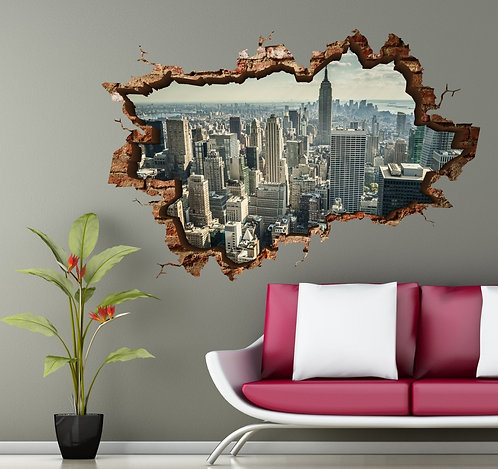 Manhattan 3D Wall Sticker