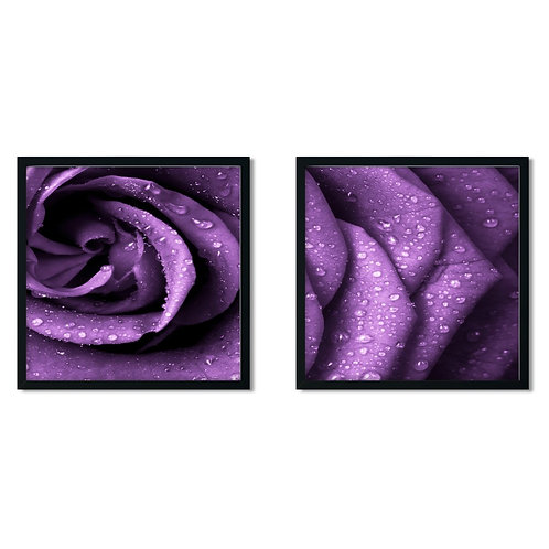 Purple Rose Framed Painting
