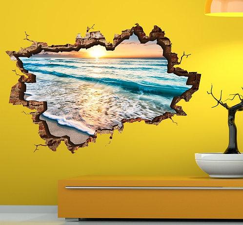 Beach 3D Wall Sticker